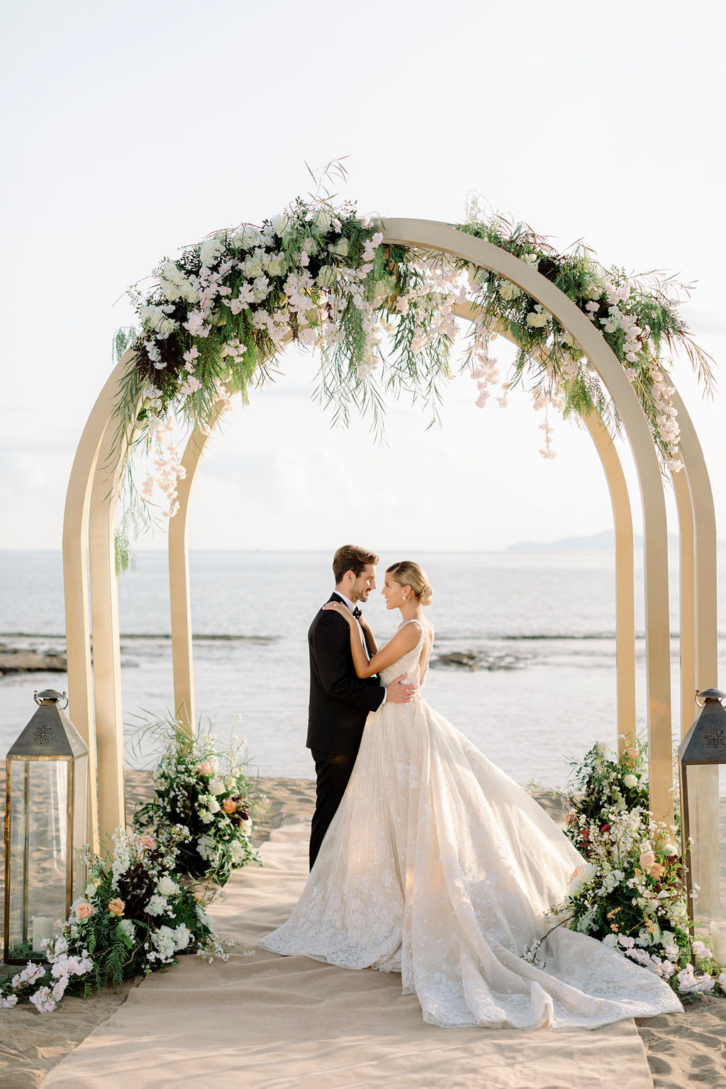 Magical wedding ceremony scenery by the Aegean sea, 2021